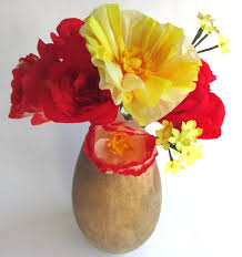 Paper Flower Bouquet In Vase Red Yellow Paper Bouquet Paper Flowers Paper Flower