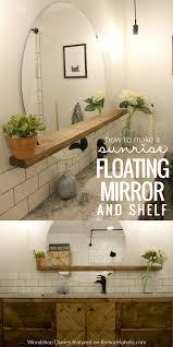 Diy Floating Bathroom Vanity How To Make A Modern Sunrise Floating Mirror Shelf Round