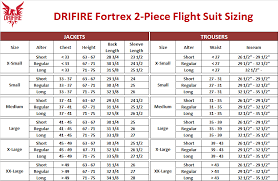 Drifire Flight Suit Sizing