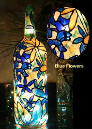 Decorative Wine Bottles With Lights Lighted Hand Painted Bottles 9