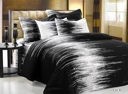 image of modern duvet covers black and white