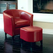 red leather chair with ottoman red leather club chair ottoman set modern living room red leather