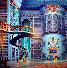 Image result for beauty and beast library