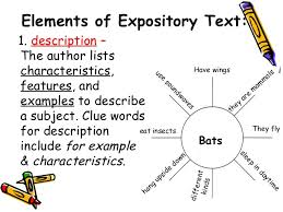 expository text in reading power point 7 elements of expository
