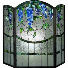 wisteria fireplace screen woodlanddirect com fireplace screens meyda tiffany