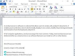 micresoft word what is a word processor word processing webopedia definition