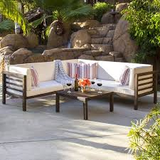 Wood outdoor sectional Black Outdoor Best Choice Products 4piece Acacia Wood Outdoor Patio Sectional Sofa Set W Water Resistant Cushions Table Espresso Walmartcom Walmart Best Choice Products 4piece Acacia Wood Outdoor Patio Sectional