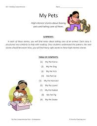 Kindergarten Worksheets Reading Kindergarten Reading Comprehension ...