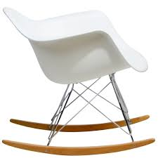 livingroom eames style molded modern plastic armchair rocking mid century chairs outdoor for rocker