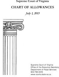 Supreme Court Of Virginia Chart Of Allowances Pdf Free