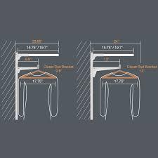 37 height of closet shelf and rod closet shelf brackets