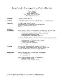 Resume Objective Statement For Teacher Http Jobresumesample Com