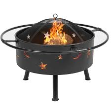 best choice s 30in outdoor patio fire pit bbq grill fire bowl fireplace w star design black com