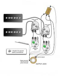 guitar wiring diagram single humbucker guitar wiring diagram two single coil pickups wirdig on guitar wiring diagram single humbucker