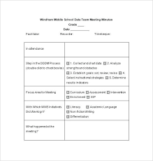 How To Write Meeting Minutes School Meeting Minutes Template Sample Mom Of Example Contoh