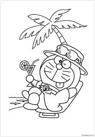 Welcome in doraemon coloring in pages site. Doraemon In A Chilling Mood Coloring Pages Doraemon Coloring Pages Free Printable Coloring Pages Online