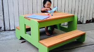 childrens wood picnic table how to build a kids picnic table regarding kids picnic tables how