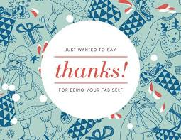 Green Card Template Green Christmas Holiday Pattern Thank You Card Templates By Canva