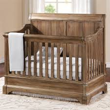 amazing rustic baby convertible cribs with wood material and window treatment plus bedding sets