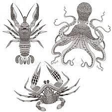 Tetování Rak Stock Vektory Royalty Free Tetování Rak Ilustrace