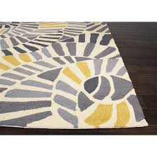 picture of jaipur colours abstract pattern polypropylene yellow gray indoor outdoor rug co12
