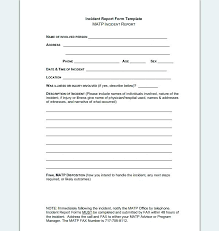 Employee Incident Report Template Extraordinary Employee Report Form Injury Template Free Incident