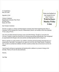 Cover Letter For Community Service 9 Job Application Letter For Volunteer Free Sample Example