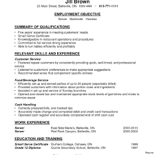 Resume Templates Bar Manager Bartender Cv Example Forrant Free