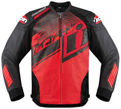 icon hypersport prime hero jackets leather red black icon helmets airmada icon