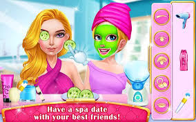mall dressup spa free makeup games poster