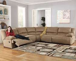reclining sectional microfiber. Brilliant Reclining Microfiber Reclining Sectional By Ashley Furniture Store To
