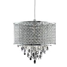 homebase wall lights jewelled large drum easy fit pendant at be