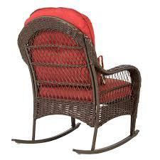 best choice s wicker rocking chair patio porch deck furniture all weather proof w cushions com