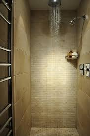 bathroom shower tile design color combinations: brown brick wall color scheme and modern showers in small bathroom tiles decorating design ideas small