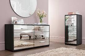 Bedroom furniture black glass
