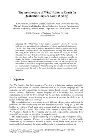 the architecture of why  atlas  a coach for qualitative physics    inside