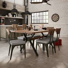 darcelle 7 piece industrial dining set