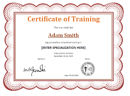Certificate Of Training Completion Template 10 Training Certificate Templates Word Excel Pdf