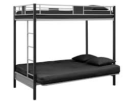 Amazon DHP Silver Screen Twin Over Futon Metal Bunk Bed With