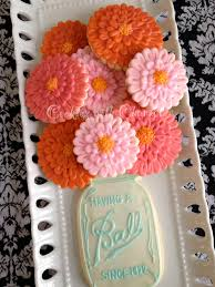 How To Decorate A Cookie Jar Cookies With Character Zinnia Flower Cookies 41