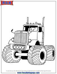 Easy Way To Color Printable Monster Truck Coloring Pages