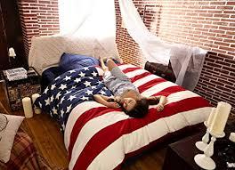 Amazon I Love America Blue American Flag Bedding Modern
