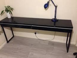 ikea besta burs desk table long black