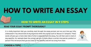 how to write an essay in 9 simple steps