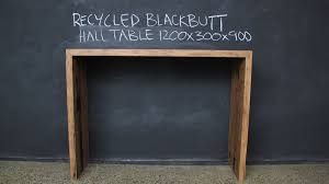 hall table furniture. Recycled Mitred Blackbutt Hall Table Furniture