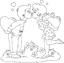 Small Picture Boy And Girl Kissing Coloring Pages download free printable