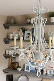 chalk painted chandelier