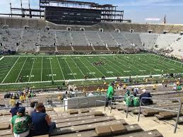 Notre Dame Football Seating Chart Rows Notre Dame Stadium Section 111 Row 20 Seat 25 Notre