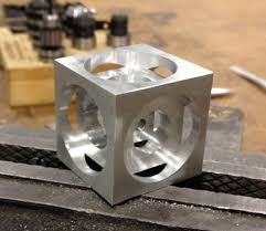 cnc metal works turners cube a beginner cnc milling project