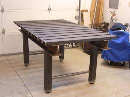 another very stout table set up for clamping